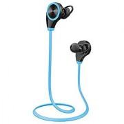 CENDA Sport Bluetooth Headphones Bluetooth 4.0 Wireless Sweatproof Sport Headphones in ear Noise Cancelling Earbuds Stereo with AptX Handsfree with Mic-Blue