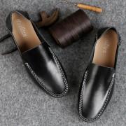 Zachte en comfortabele lederen erwten schoenen voor mannen (kleur: zwart maat: 41)