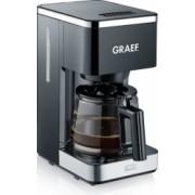 Cafetiera Graef FK402 cu functie de preinfuzare pentru potentarea aromei 1000 W 1.25 L / 10 cesti negru High Quality Design