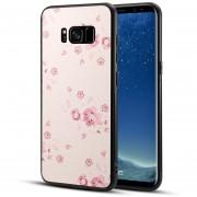 Para Samsung Galaxy S8 + / G955 TPU + PC Melocotón Flor Patrón Impreso Superficie Nuevo Estuche Protector