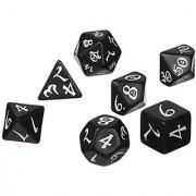 Classic RPG Dice Black/White (7) Board Game