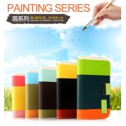 KALAIDENG Painting Series - Wallet Case For Samsung Galaxy Note 2 N7100 - coffee