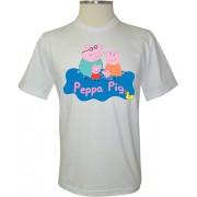 Camiseta Peppa Pig Família Logo - Coleção Peppa Pig