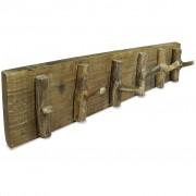 vidaXL Nástenný vešiak, masívne recyklované drevo, 60x15 cm