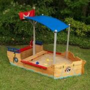 KidKraft Pirate 199.39cm Novelty Sandbox with Cover KidKraft - Size: Large
