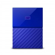 Western Digital WD My Passport WDBYNN0010BBL - Disco rígido - encriptado - 1 TB - externa (portátil) - USB 3.0 - 256-bits AES - azul