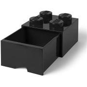 LEGO asztali box 4 fiókkal - fekete
