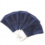 MASQUES DIRECT 5 Masques pour enfants ergonomiques en tissu lavable bleu jean