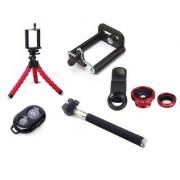 De-TechInn Selfie Stick Accessory Set of Flexible Mini Octopus Tripod Bluetooth Selfie Remote Universal Camera Lense