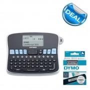 Aparat de etichetat LabelManager 360D si 1 caseta etichete profesionale 12 mmx3m negru argintiu S0879510 2084401