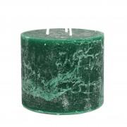Dille&Kamille Bougie bloc, vert jungle, 12 x 10 cm