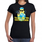 Shoppartners Fout paas t-shirt zwart take me to your leader voor dames
