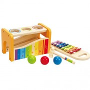 Wooden Kids Pound & Tap Bench with Slide Out Xylophone For Toddlers