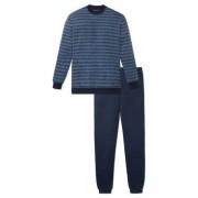 Schiesser Schiesser heren pyjama 164287 lang donkerblauw