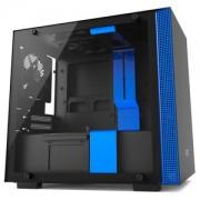 Carcasa NZXT H200 Tempered Glass Matte Black/Blue