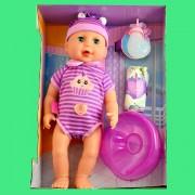 Bebelusul care face pipi la olita, bea din biberon, plange, doarme, rade - 45 cm * 20 cm