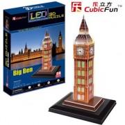 Puzzle 3D Cubicfun Big Ben, 28 piese