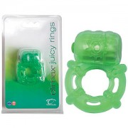 Climax Juicy Rings Green Vibrating Cock Ring