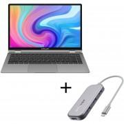 """Notebook Teclast F6 Plus, Intel N4100, Win 10, 8GB, SSD 256GB de 13.3"""" + Hub USB BlitzWolf BW-TH5"""