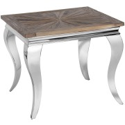 Mayfair Chrome & Reclaimed Elm Side/Lamp Table