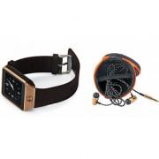 Mirza DZ09 Smart Watch and Katori Earphone for LG OPTIMUS L4 DUAL(DZ09 Smart Watch With 4G Sim Card Memory Card| Katori Earphone)