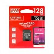 Card memorie micro sd GOODRAM - 128GB cu Adaptor UHS I CLASS 10 100MB/s