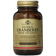 Solgar Natural Cranberry With Vitamin C - 60 Vegetable Capsules