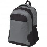 vidaXL Mochila escolar 40 L preto e cinzento
