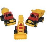 Set 3 Utilaje Constructie Autobasculanta, Buldoexcavator Si Betoniera Ucar Toys Uc106