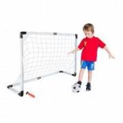 Set Fotbal Pentru Copii Cu Minge Poarta Cu Plasa Si Pompa