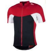 gyermek jersey háló Rogelli Recco 2.0 rövid ujj, fekete-piros 001.1360.
