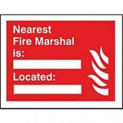 Unbranded Fire Sign Nearest Marshall Plastic 15 x 20 cm