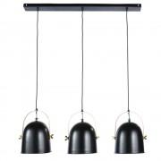 Maisons du Monde Lámpara de techo con 3 focos de metal negro y dorado