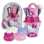 Set accesorii de nisip in rucsac mare Hello Kitty Make-Up