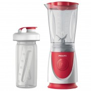 Mini Blender Philips Daily Collection HR2872/00, 350 W, 0.6 l, Alb/Rosu