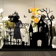 Creative Halloween Haunted House Glass Wall Stickers