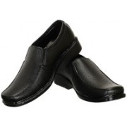 Shoe Island ® POPULAR Classic-X ™ Leatherette Stunning Black Office Wear Slip-On Formal Shoes Slip On For Men(Black)