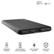 Външна батерия TRUST Primo Fast Ultra-thin Powerbank 5000 mAh, черна, 23596