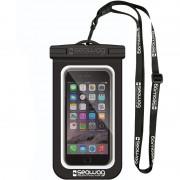 Seawag Zwarte/witte waterproof hoes voor smartphone/mobiele telefoon