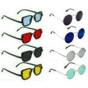 SO SHADES OF STYLE Round, Rectangular Sunglasses(Red, Black, Blue, Yellow, Silver, Green)
