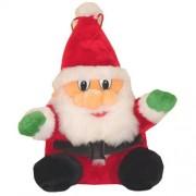 Geen Pluche zittende kerstman 27 cm