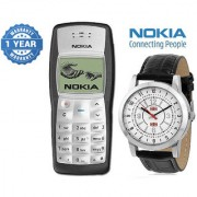 Nokia 1100 / Good Condition/ Certified Pre Owned (1 Year Warranty) with Branded Watch