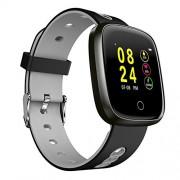 HWZLTHL IP67 Impermeable Smart Watch Bluetooth con presión Arterial Monitor de Ritmo cardíaco Monitor de Ritmo cardíaco Reloj Deportivo para teléfonos Inteligentes (Color : Gray)