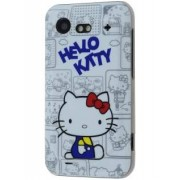 HTC Incredible S Hello Kitty Back Case - HTC Hard Case (Blue/White)