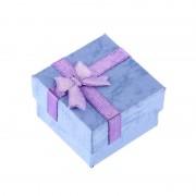 Cutie de bijuterii albastra pentru cadou