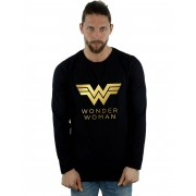 Absolute Cult DC Comics Hommes-apos;s Wonder Woman 84 Golden Logo À manches longues T-shirt Blanc XX-Large