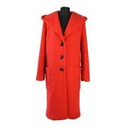 Dámský dlouhý vlněný kabát s kapucí Exclusive