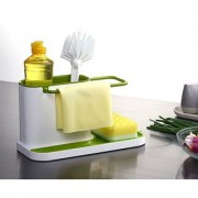 sell net retail 3 IN 1 Self Draining Sink Tidy with suction cup Organiser Sponge Brush Holder