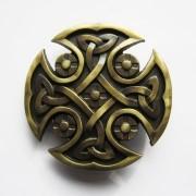 Hebilla cruz celta keltic dorada