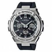 casio g-shock GST-S110-1A serie G-STEEL acero inoxidable de cuarzo y reloj casual de resina - plata + negro